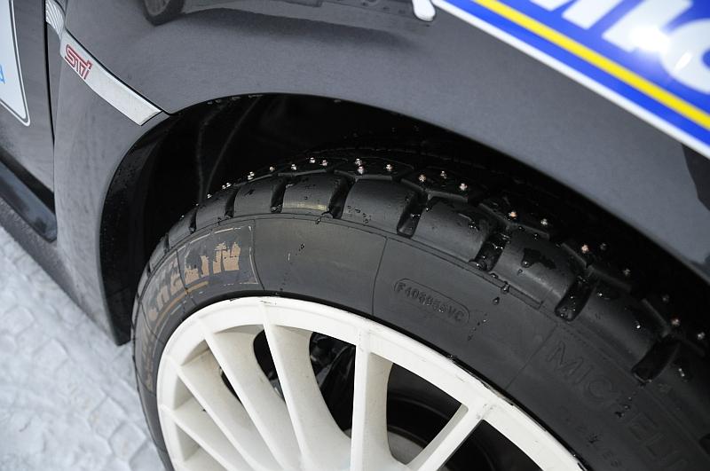 Michelin Winter Experience 2014 Subaru WRX STI Spikes